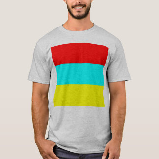 Red Stripe, Aqua Stripe, Yellow Stripe T-Shirt
