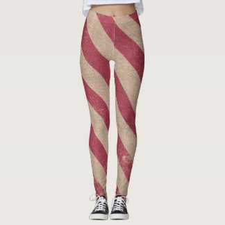 red stripe holiday candy cane christmas leggings