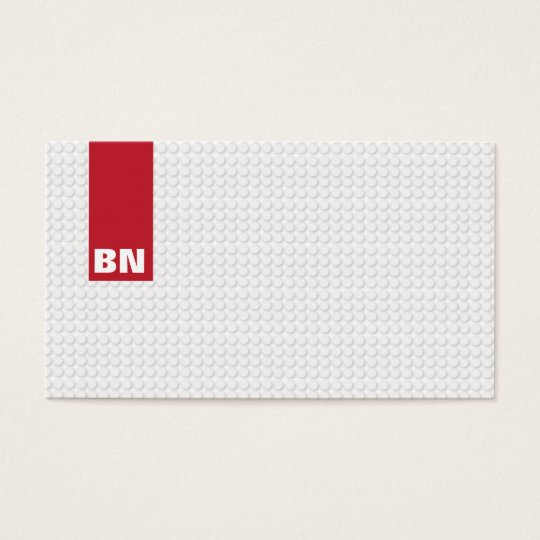 Red Stripe Monogrammed Business Card