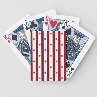 Red Stripes Blue Stars Bicycle Playing Cards
