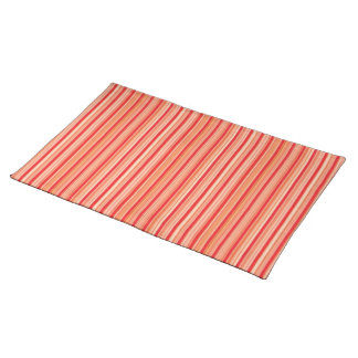 Red stripes placemat