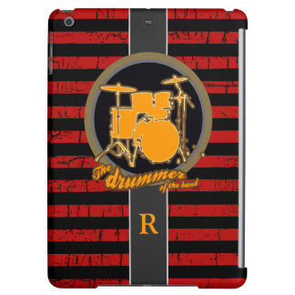 red stripes & yellow drum iPad air case