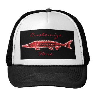 red sturgeon swimming cap