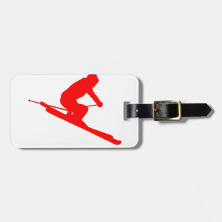 RED STYLE SKI LUGGAGE TAG