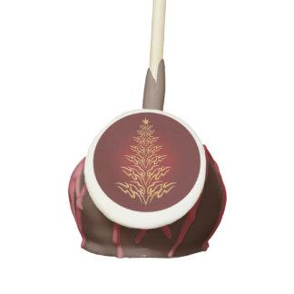 Red Stylish Christmas Tree Cake Pops