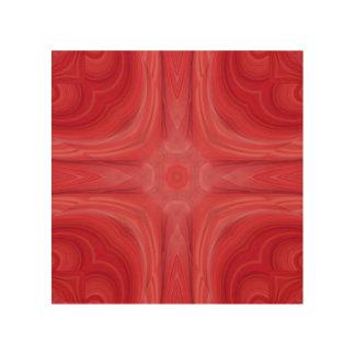 Red stylish wood pattern wood wall decor
