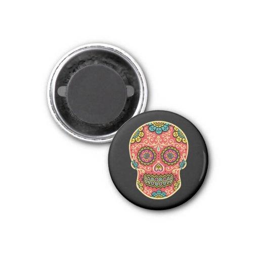 Red Sugar Skull Refrigerator Magnet