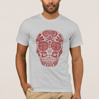 Red Sugar Skull Shirt
