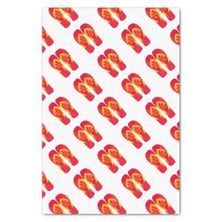Red Summer Beach Party Flip Flops Gift Tissue Tissue Paper
