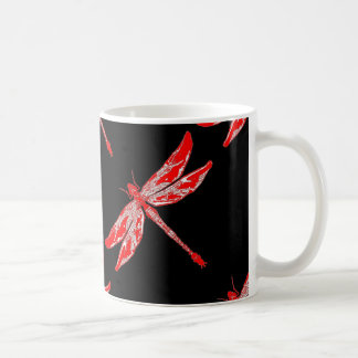 Red Summer Dragonfly Gifts Coffee Mug