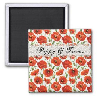 Red Summer Poppy Fridge Magnet