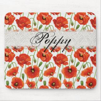 Red Summer Poppy Mousepad