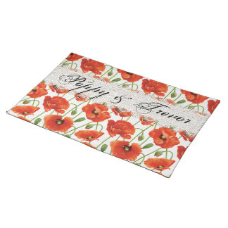 Red Summer Poppy Placemats