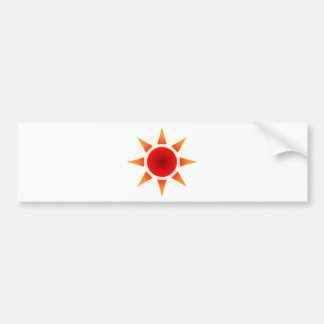Red Sun Bumper Sticker