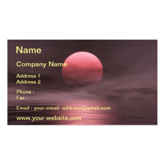 Red Sun Pack Of Standard Business Cards