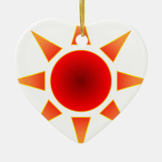 Red Sun Christmas Ornament
