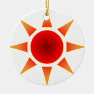 Red Sun Christmas Ornament