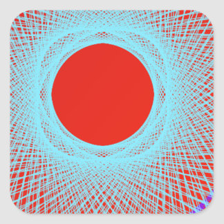 red sun give multicolor abstract art sticker