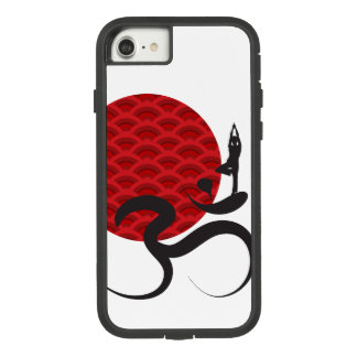 Red Sun Yoga Spiritual Indian Meditate Om Ohm Logo Case-Mate Tough Extreme iPhone 8/7 Case