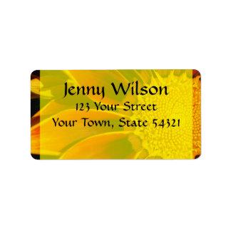 Red Sunflower Address Label