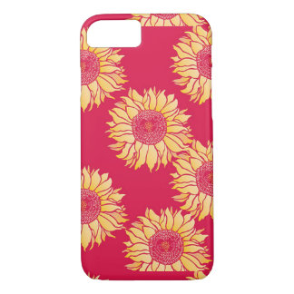 Red Sunflower Iphone 7 Case