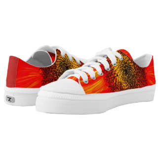 Red Sunflower Low Tops