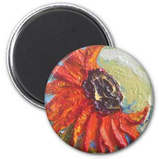 Red Sunflower Magnet