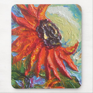 Red Sunflower Mouse Mat