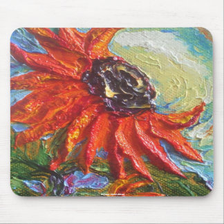 Red Sunflower Mouse Pads