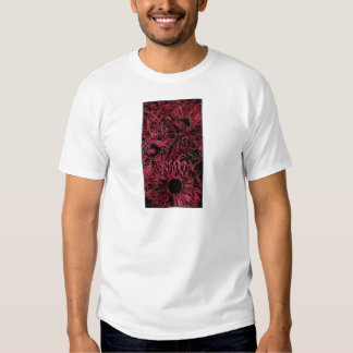 Red Sunflower with oval Border Shirts