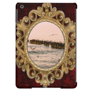Red Sunset, Breakwater And Seagulls iPad Air Covers