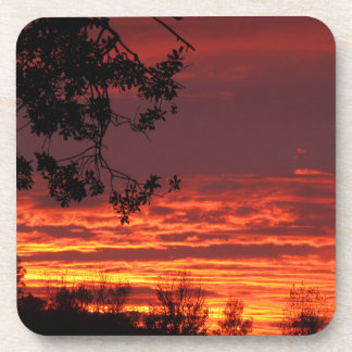 Red Sunset Coasters