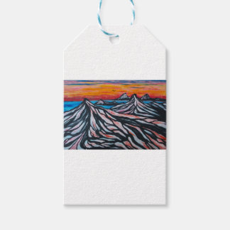 Red sunset gift tags