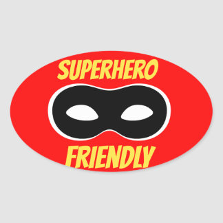 Red Superhero Friendly Sticker