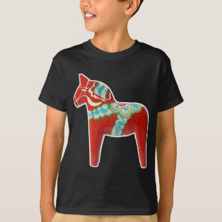 Red Swedish Dala Horse T-Shirt