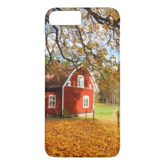 Red Swedish House Amongst Autumn Leaves iPhone 8 Plus/7 Plus Case