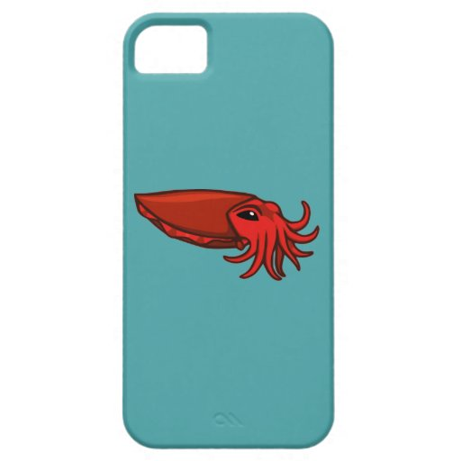 Red Swimming Cuttlefish iPhone 5 Covers