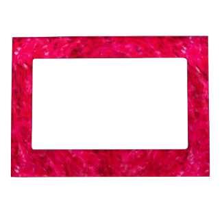 Red Swirl 5x7 Magnetic Photo Picture Frame