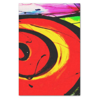 Red Swirl Abstract Art Tissue Paper