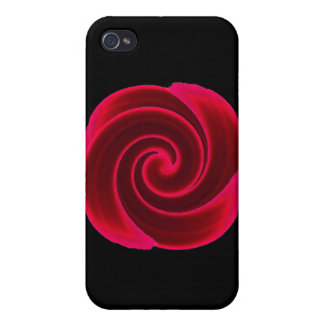 Red Swirl Blood Flower Cases For iPhone 4