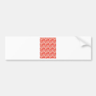 Red Swirl Bumper Sticker