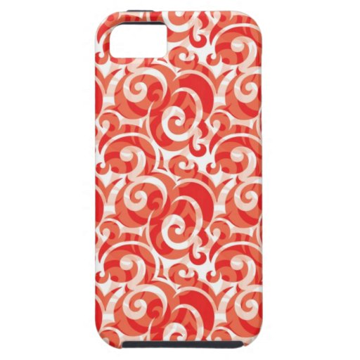 Red Swirl iPhone 5 Cover