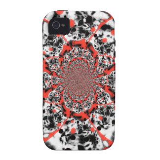Red Swirl iPhone 4/4S Cases
