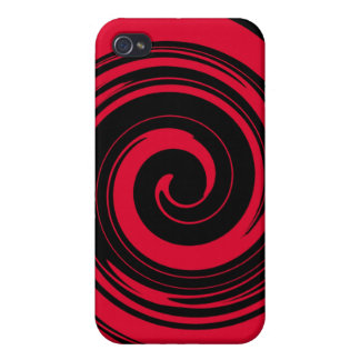 Red Swirl iPhone 4 Case