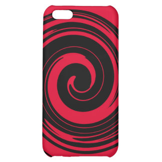 Red Swirl Case For iPhone 5C