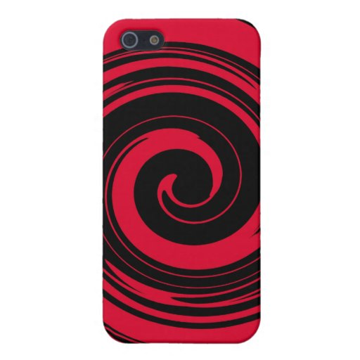 Red Swirl Covers For iPhone 5