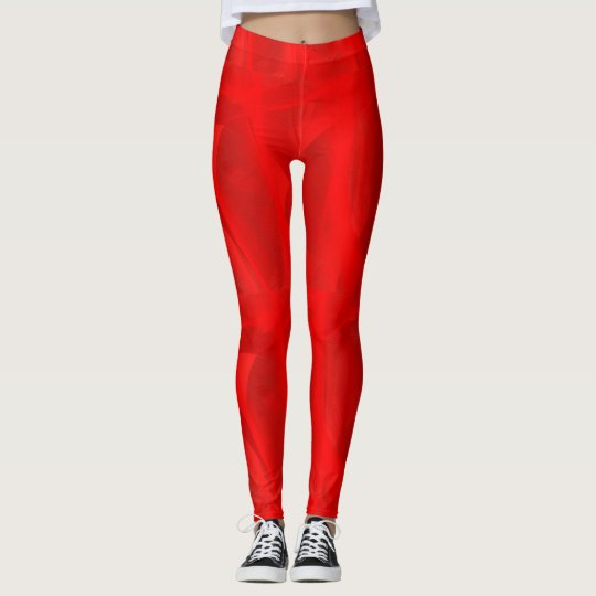 Red swirl leggings