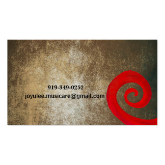 Red Swirl Pack Of Standard Business Cards