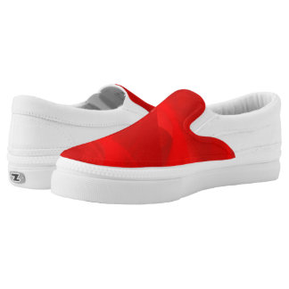 Red swirl shoes