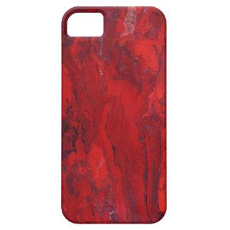 Red swirled marble slab iPhone 5 case